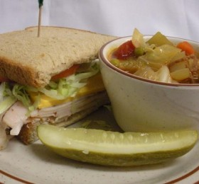 Half Sandwhich and cup of soup | Green Valley Restaurant
