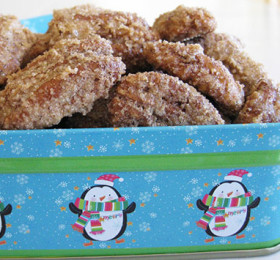 Amy Lou Christmas Pecans in a Tin